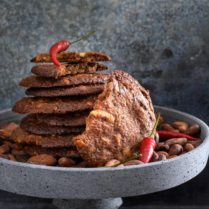 Chocolate and chilli cookies