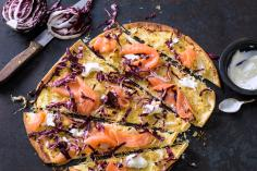 Salmon and sauerkraut tart