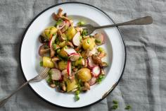 Potato salad with mushrooms