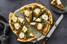 Spinach and goat's cheese tart