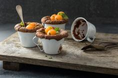 Chocolate Cake Cups with Melon