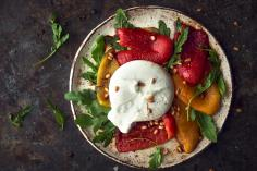 Burrata with Sweet Peppers