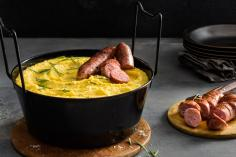 Polenta with Luganighe sausages