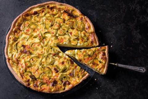 Spicy savoury cheesecake