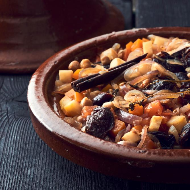 Vegetable Tagine with Dried Plums