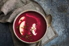 Beetroot & apple soup
